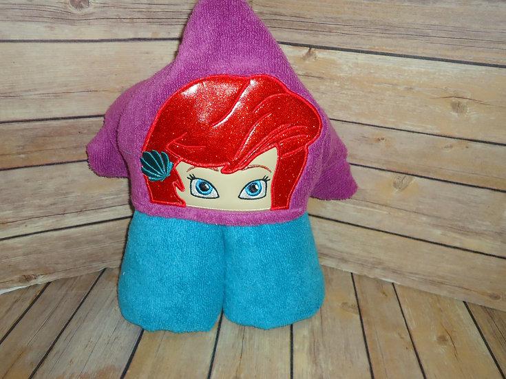 Mermaid Princess Hooded Towel - Made to Order