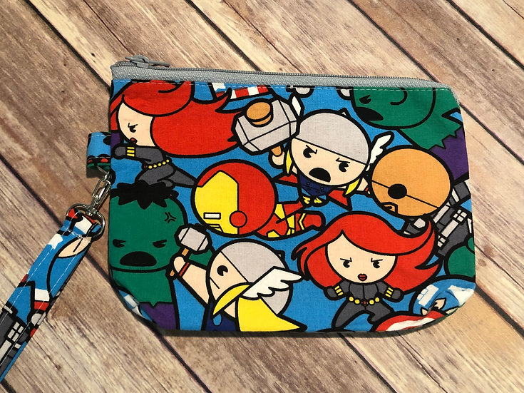 Marvel Chibi Characters Themed Wristlet - Ready to Ship