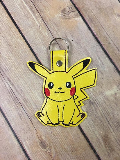 Pocket Monster Pikachu Body Embroidered Key Chain