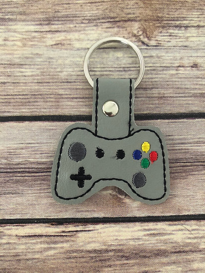 Video Game Controller Embroidered Key Chain
