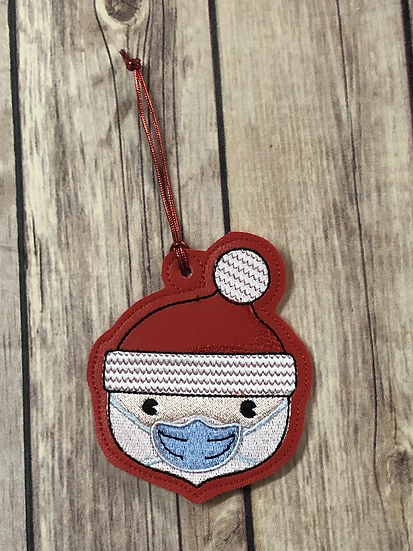 Masked Santa Ornament - Made to Order