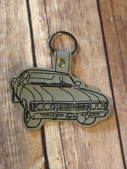 Supernatural Car Embroidered Key Chain