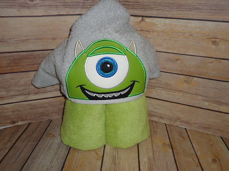 One Eyed Monster Mike Inspired 3D Hooded Towel