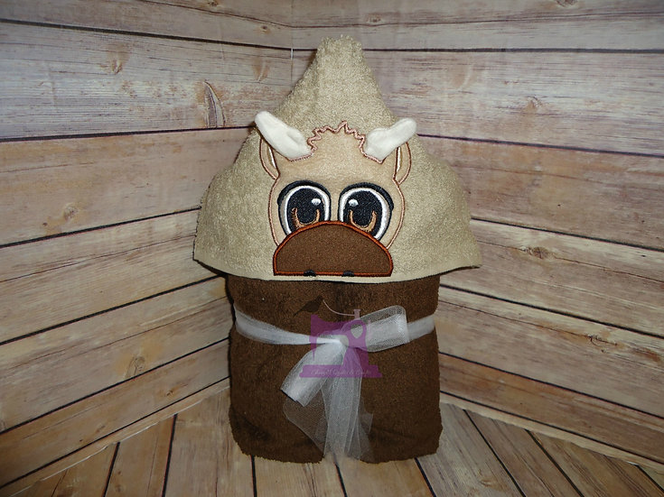 Sven from Frozen Baby Reindeer 3D Hooded Towel