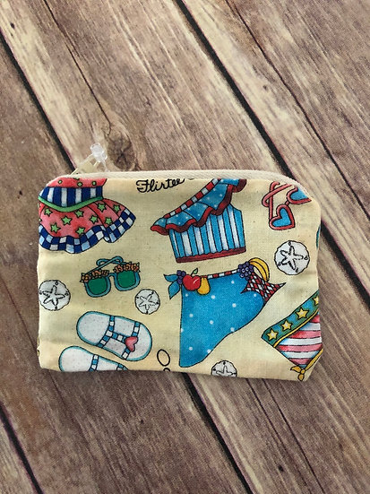 Beach/Bathing Suit themed Zipper Pouch - Ready to Ship