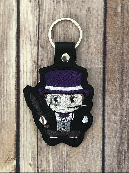 Penguin Chibi Embroidered Key Chain