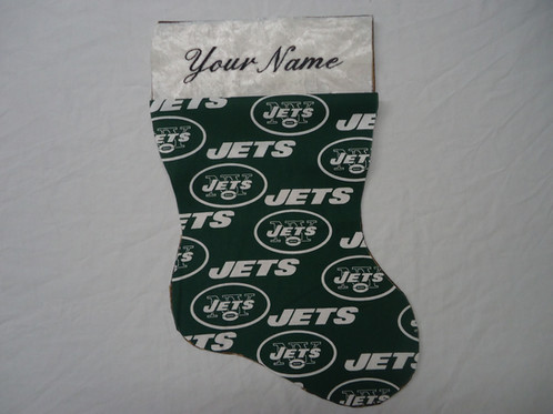embroidered christmas stockingny jets