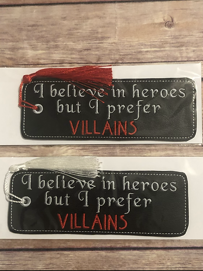 Prefer Villains Black Vinyl Bookmark - Ready to Ship