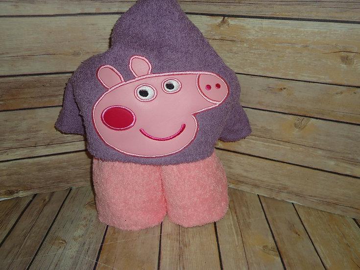 Pink Pig Hooded Towel