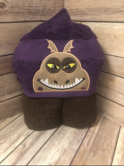 Meatlug Brown Dragon Child Size Hooded Towel - Ready to Ship