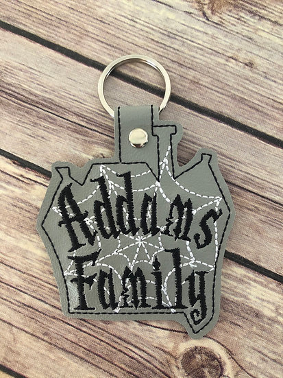 Addams Family Embroidered Key Chain
