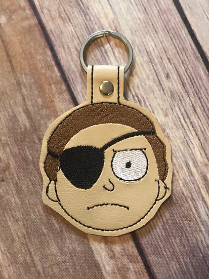 Evil Morty Embroidered Key Chain