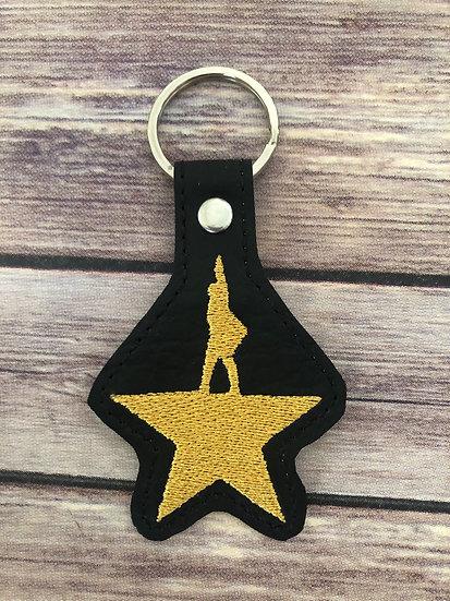 Hamilton Silhoutte Embroidered Key Chain