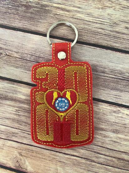 I <3 U 3000 Embroidered Key Chain