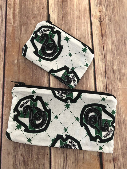 Snake House on white Zipper Pouch - Ready to Ship