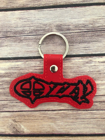 Ozzy Embroidered Key Chain