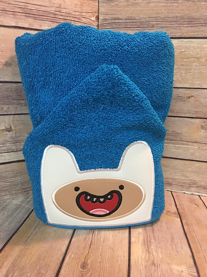 Adventure Time Finn the Human Inspired Hooded Towel