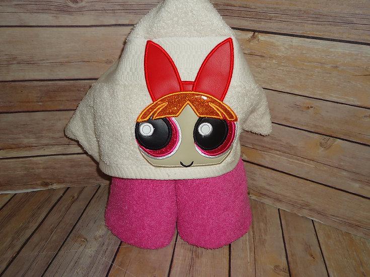 Powerpuff Girls Blossom Inspired Hooded Towel