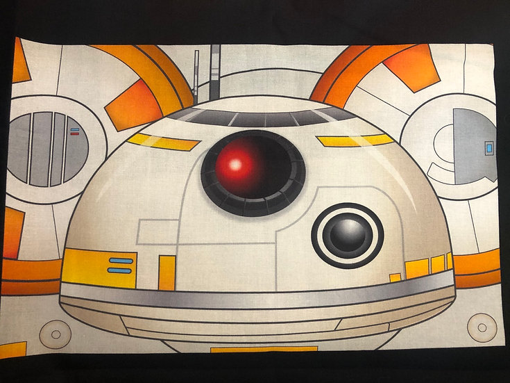 BB8 Themed Washable Fabric Face Mask - Elastic or Ties