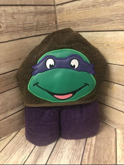 Donatello Child Size Hooded Towel - Ready to Ship