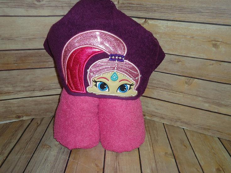 Pink Genie Shimmer Inspired Hooded Towel