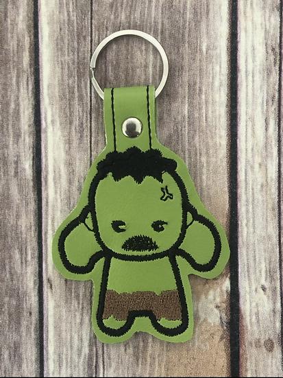 Hulk Chibi Embroidered Key Chain