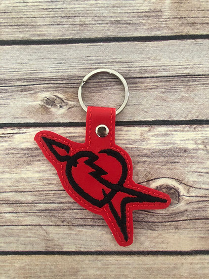 T.P. & Heartbreakers Embroidered Key Chain