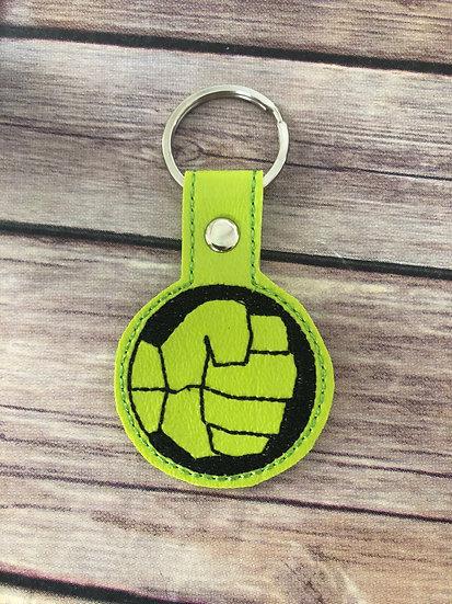 Hulk Embroidered Key Chain