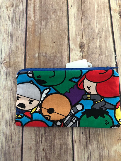 Marvel Chibi characters Zipper Pouch - Ready to Ship