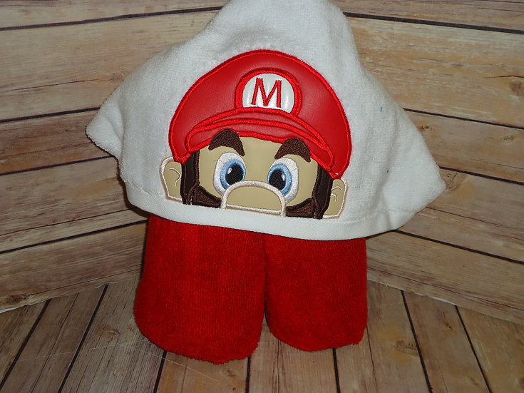 Mario Inspired Hooded Towel