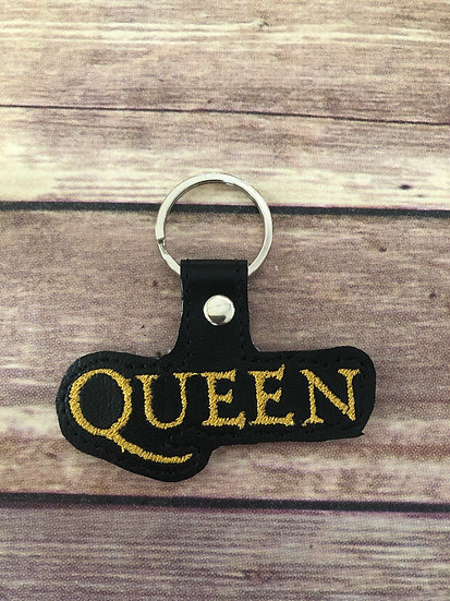 Queen Band Embroidered Key Chain