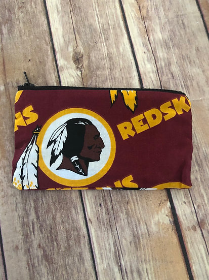 Redskins Zipper Pouch - Ready to Ship
