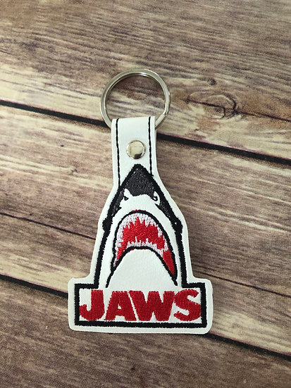 Jaws Embroidered Key Chain