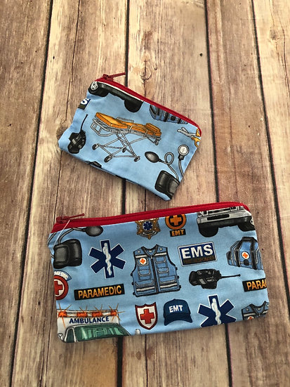 EMS/Paramedic themed Zipper Pouch - Ready to Ship