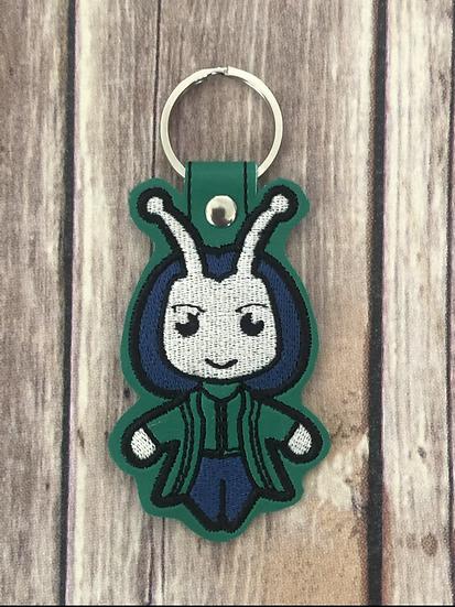 Mantis Chibi Embroidered Key Chain