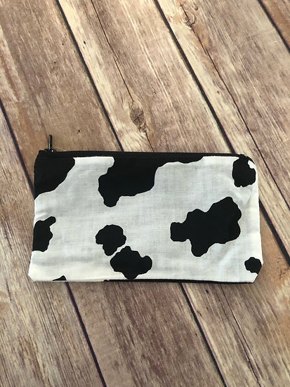 Cow print themed Zipper Pouch - Ready to Ship