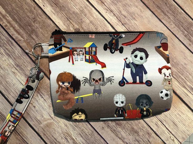 Horror Playground themed Wristlet - Ready to Ship