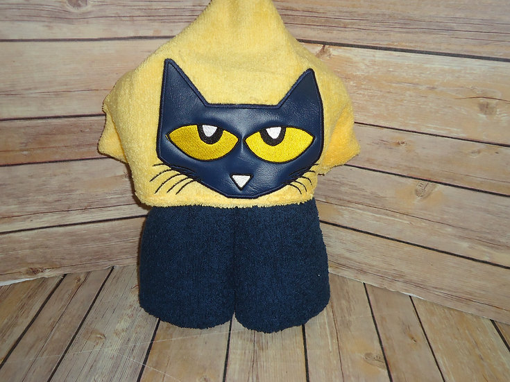 Pete the Cat Inspired Hooded Towel