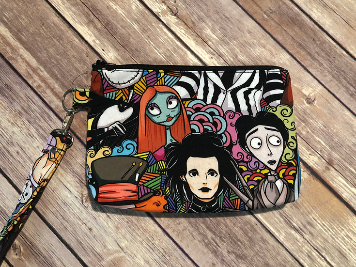 Burton Characters themed Wristlet - Ready to Ship