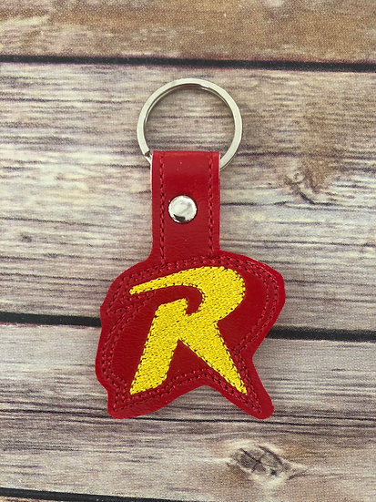 Robin Embroidered Key Chain