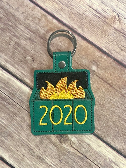 Dumpster Fire 2020 Embroidered Key Chain