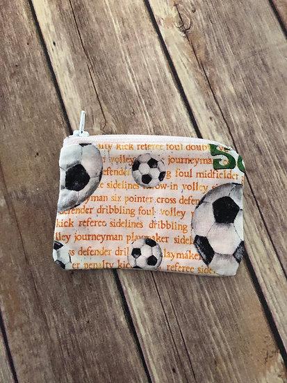 Soccer Zipper Pouch - Ready to Ship