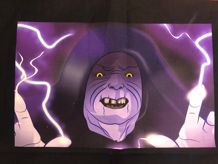 Darth Sidious/Palpatine Themed Washable Fabric Face Mask - Elastic or Ties