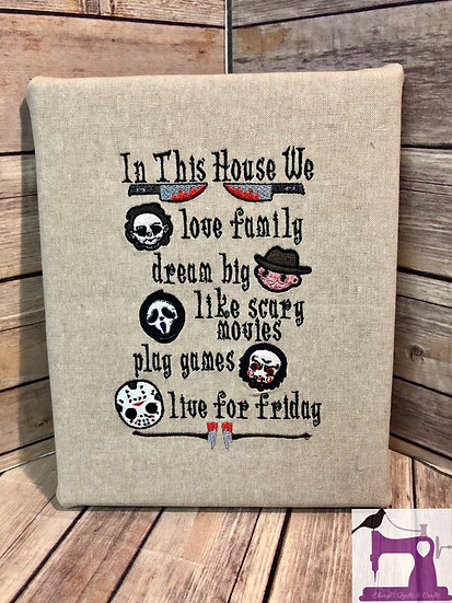 This House Loves Horror Wall Art - Made To Order