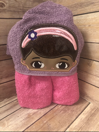 Doc McStuffins Child Size Hooded Towel - Ready to Ship