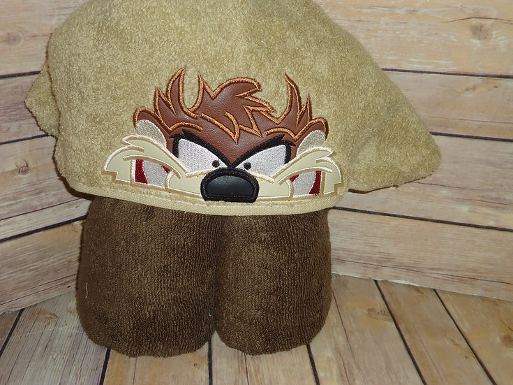 Tasmanian Devil Inspired Hooded Towel