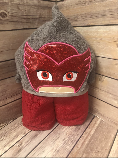 Owlette Child Size Hooded Towel - Ready to Ship