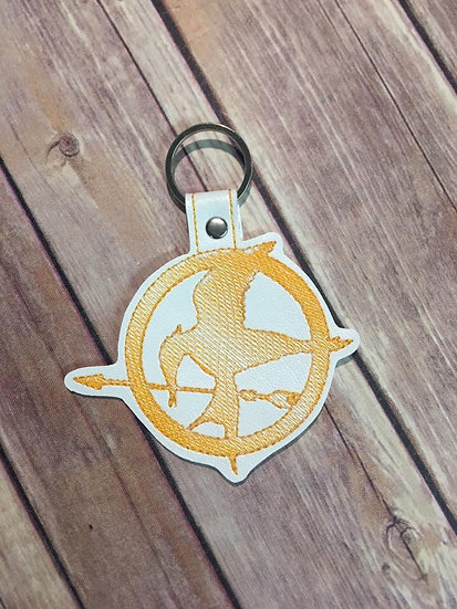 MockingJay Embroidered Key Chain