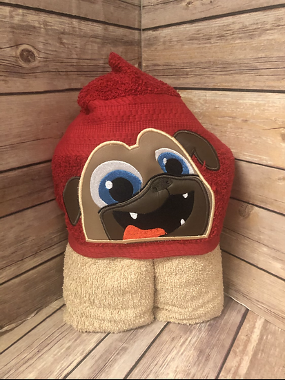 Rolly Tan Dog Child Size Hooded Towel - Ready to Ship