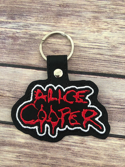 Alice Cooper Embroidered Key Chain